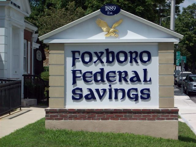 Foxboro Federal Savings' Sign